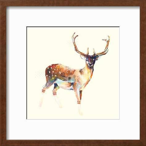 Deer Wearing Gym Socks Art Print by Charmaine Olivia   Art.com