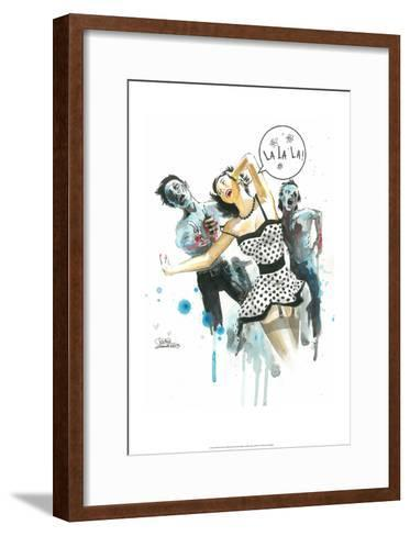 Zombie Love-Lora Zombie-Framed Art Print