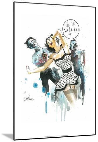 Zombie Love-Lora Zombie-Mounted Art Print