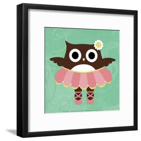 Ballerina Owl-Nancy Lee-Framed Art Print