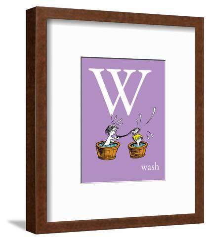 W is for Wash (purple)-Theodor (Dr. Seuss) Geisel-Framed Art Print
