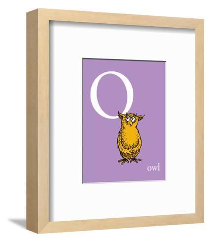 O is for Owl (purple)-Theodor (Dr. Seuss) Geisel-Framed Art Print