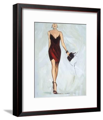Strike The pose-Joyce Fournier-Framed Art Print