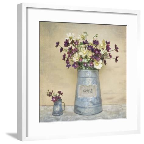 Plum Daisies-Cristin Atria-Framed Art Print