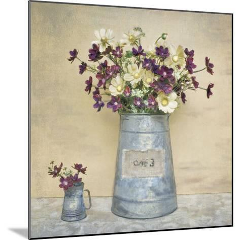Plum Daisies-Cristin Atria-Mounted Art Print