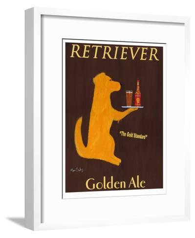 Retriever Golden Ale-Ken Bailey-Framed Art Print