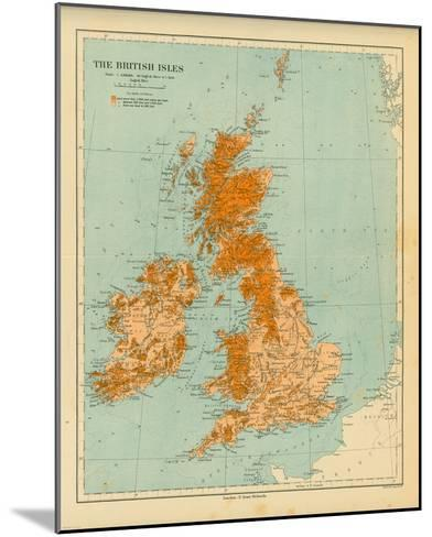 Map of the British Isles-The Vintage Collection-Mounted Art Print
