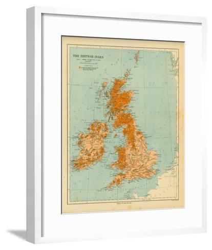 Map of the British Isles-The Vintage Collection-Framed Art Print