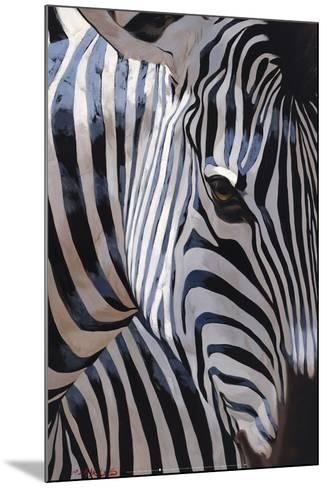 Zebra Stripes-P^ Charles-Mounted Art Print