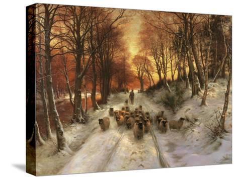 Through the Calm and Frosty Air-Joseph Farquharson-Stretched Canvas Print