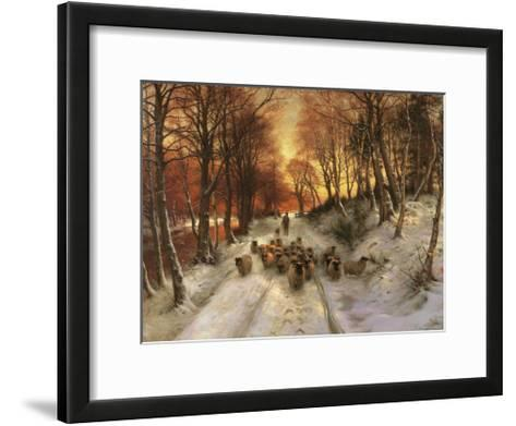 Through the Calm and Frosty Air-Joseph Farquharson-Framed Art Print