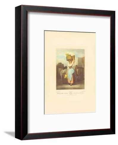 Strawberries, Scarlet Strawberries-Francis Wheatley-Framed Art Print