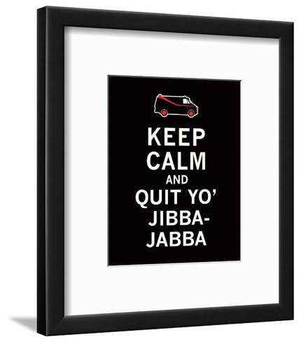 Keep Calm...Jibba-Jabba-The Vintage Collection-Framed Art Print