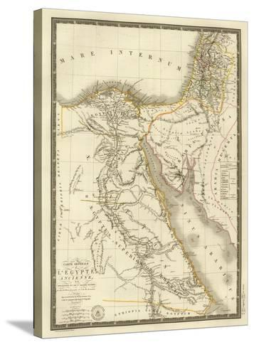 Egypte Ancienne, Palestine, Arabie Petree, c.1822-Adrien Hubert Brue-Stretched Canvas Print