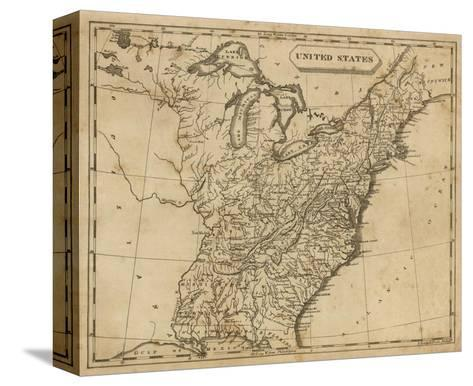 United States, c.1812-Aaron Arrowsmith-Stretched Canvas Print