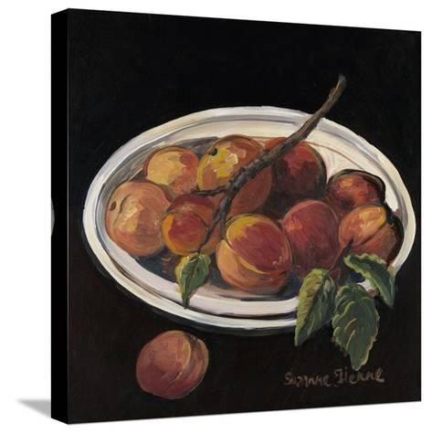 Bowl of Peaches-Suzanne Etienne-Stretched Canvas Print
