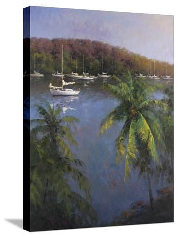 Caribbean Lagoon-Karen Dupr?-Stretched Canvas Print