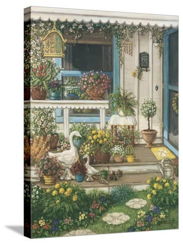 Spring Front Porch-Janet Kruskamp-Stretched Canvas Print