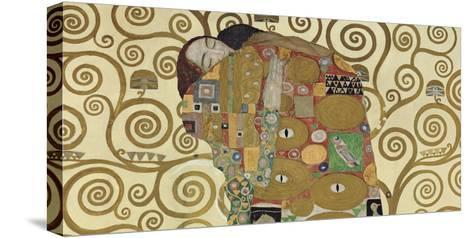 The Embrace (detail)-Gustav Klimt-Stretched Canvas Print