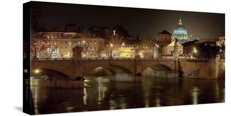 Rome at night-Vadim Ratsenskiy-Stretched Canvas Print