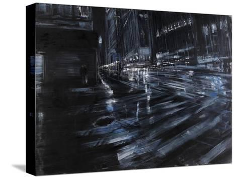 Broadway Night-Paolo Ottone-Stretched Canvas Print