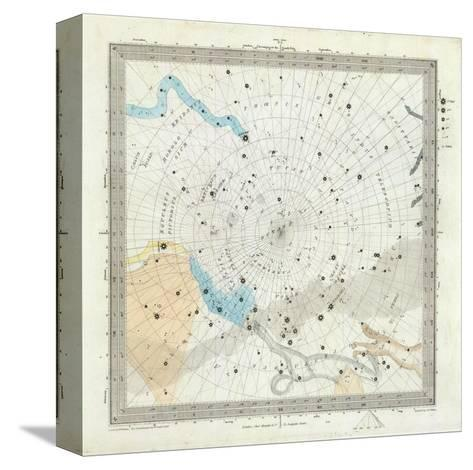Celestial Anno 1830: No. 6. Circumjacent the South Pole, c.1844--Stretched Canvas Print