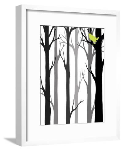Forest Silhouette II-Erica J^ Vess-Framed Art Print