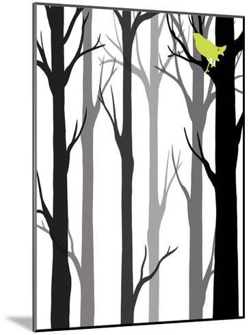 Forest Silhouette II-Erica J^ Vess-Mounted Art Print