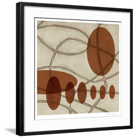 Earthen Ovals II-Jennifer Goldberger-Framed Art Print
