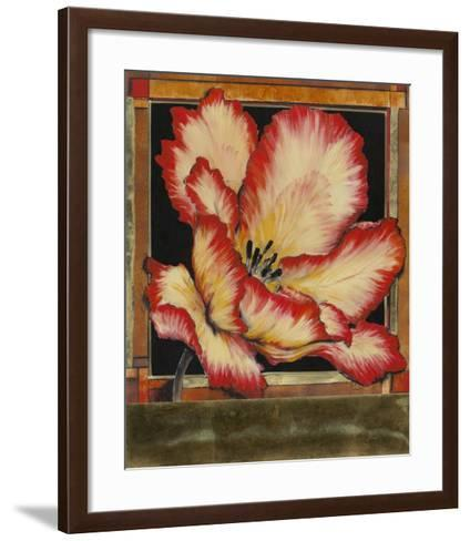 Embellished Parrot Tulip II-Tim O'toole-Framed Art Print
