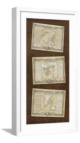 Weathered Maps I--Framed Art Print