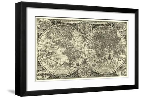 Totius Orbis Cogniti, Leiden, 1605-Paulus Merula-Framed Art Print