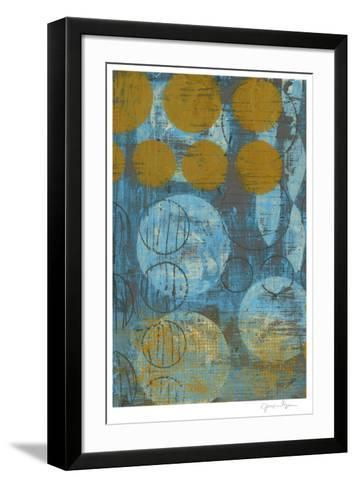 Textured Circles I-Jennifer Goldberger-Framed Art Print