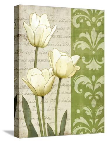 White Tulips-matt patterson-Stretched Canvas Print