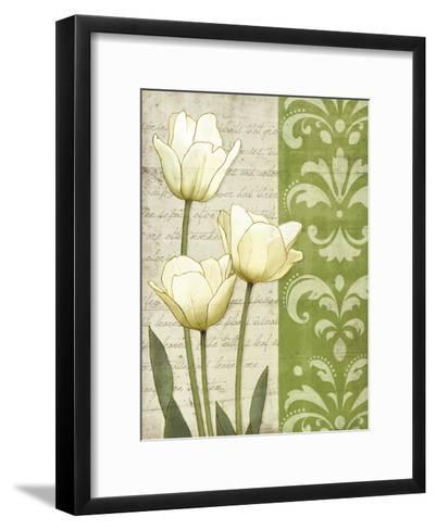 White Tulips-matt patterson-Framed Art Print