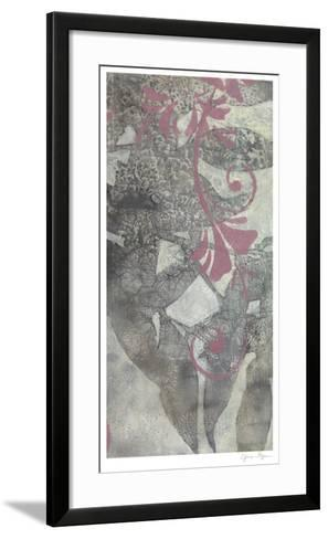 Leaf Dusting II-Jennifer Goldberger-Framed Art Print