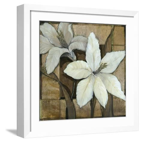 Embellished Lilies I-Tim O'toole-Framed Art Print
