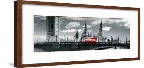 London Bus VI-Jurek Nems-Framed Art Print