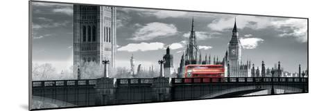 London Bus VI-Jurek Nems-Mounted Giclee Print