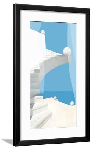 Greek Stairway-Malcolm Sanders-Framed Art Print