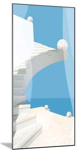Greek Stairway-Malcolm Sanders-Mounted Giclee Print