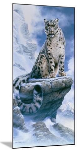 High Spirit - Snow Leopard-Kim Thompson-Mounted Giclee Print
