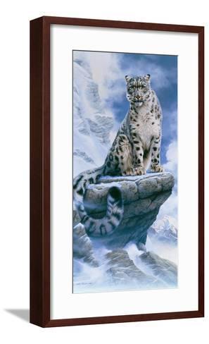 High Spirit - Snow Leopard-Kim Thompson-Framed Art Print