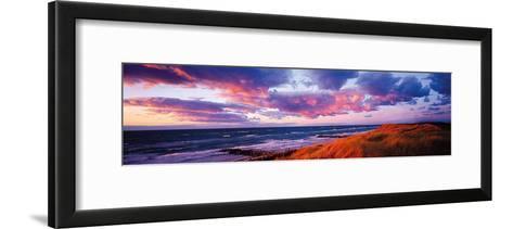 Sunset Beach-Bent Rej-Framed Art Print