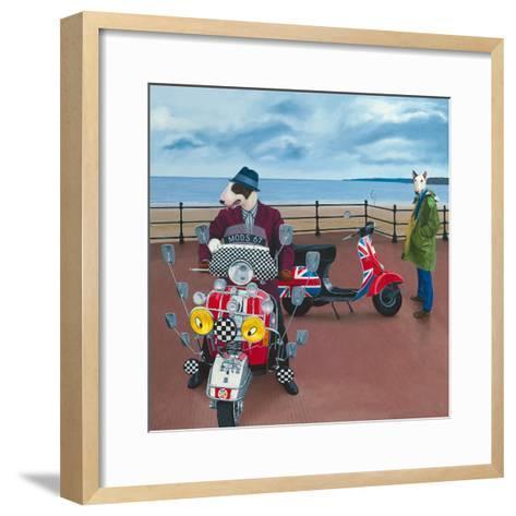 Mod Dogs-Paula Zimmermann-Framed Art Print