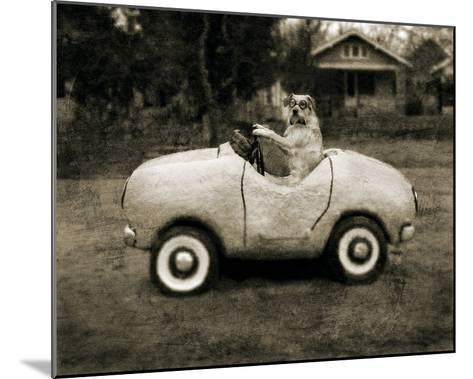 Ollie In His Car-Pete Kelly-Mounted Giclee Print