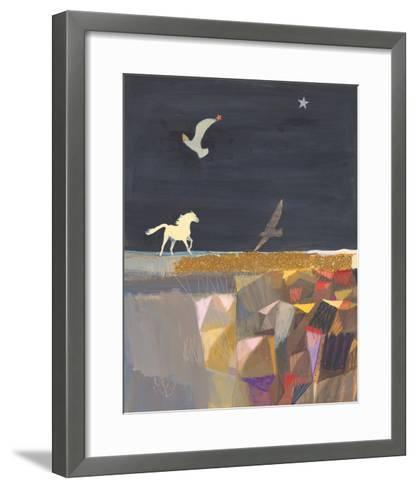 Swiftly, Softly-Ele Pack-Framed Art Print