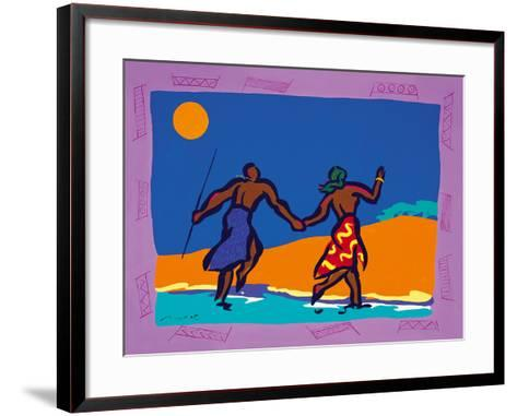 Crossing the River-Gerry Baptist-Framed Art Print