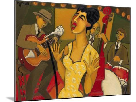 The Recording Session-Marsha Hammel-Mounted Giclee Print