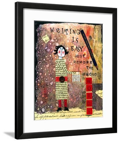 Writing is Easy-Barbara Olsen-Framed Art Print